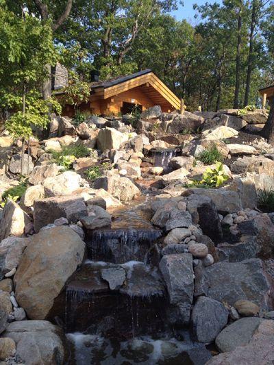 Nordic Spa, Quebec, Canada. Natural Stone Walk Ways.