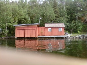 an old school lakeside sauna & boathouse