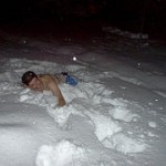 sauna-and-the-snow