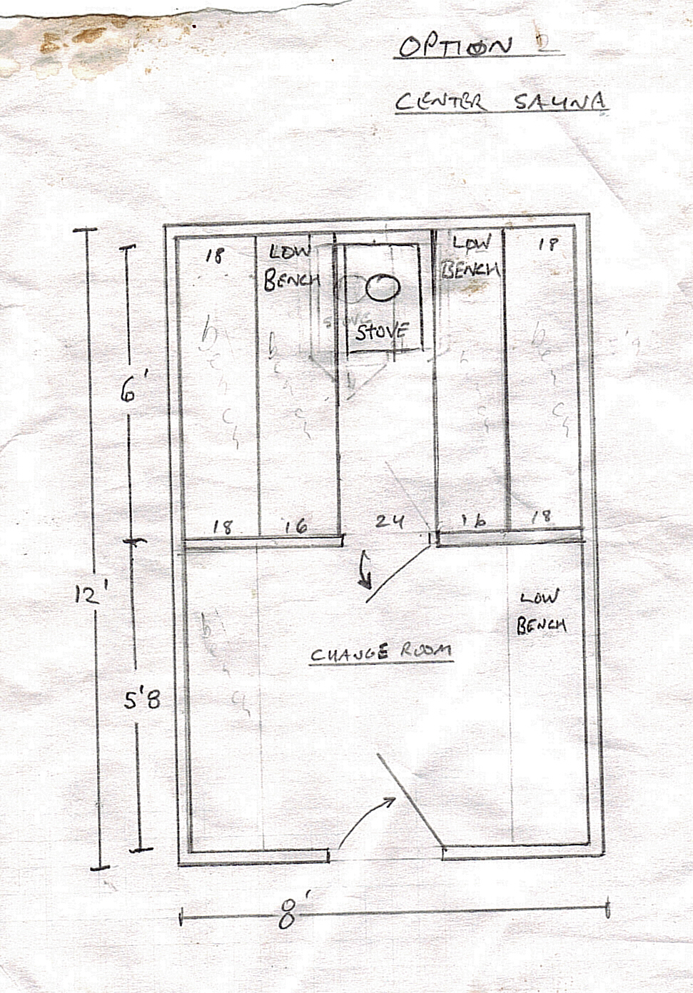 Sauna dimensions best layout room Sauna blueprints