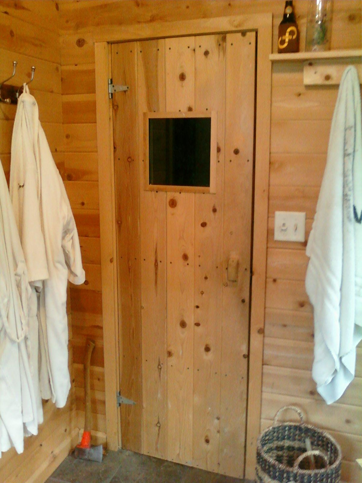 Build Your Own Sauna Door