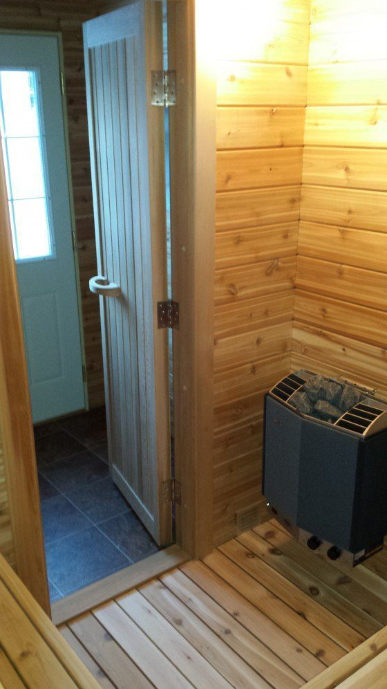 Sauna build in central wisconsin comes off without a hitch for Keys backyard sauna
