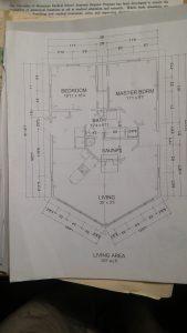 A cabin blueprint that is 'sauna forward'