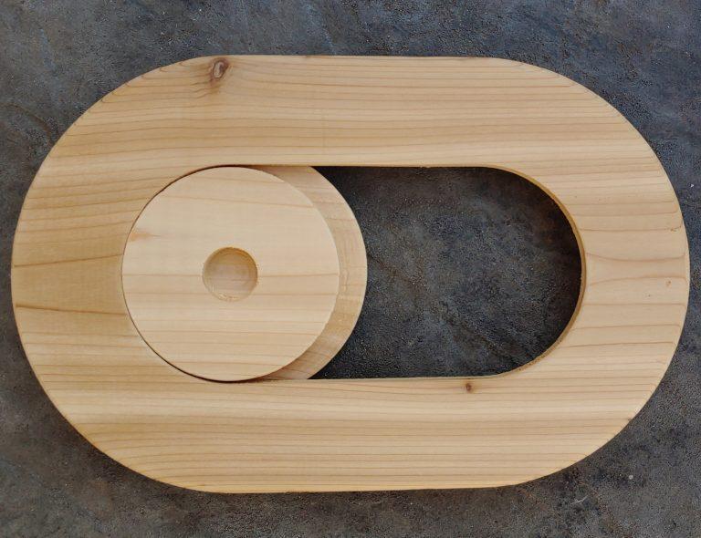 Infinite Cedar sauna vent / chute cover slider