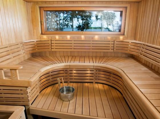 Sauna circular benches