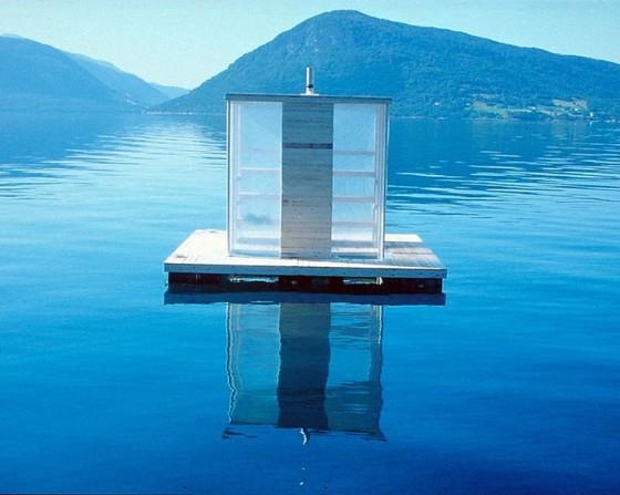 Floating Sauna By Casagrande amp Rintala In Rosendahl Norway