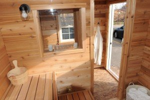 Money saving tips for building your own sauna: wood paneling for your hot room