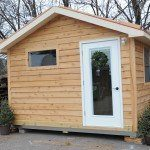 An 8'x12' authentic sauna building.  A separate space from living area.