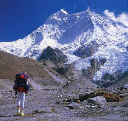 Climbing The Worlds 14 Highest Mountains - Makalu Southwest Face From Makalu Base Camp