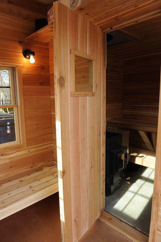 You Can See Why A Sauna Door Window Is A Good Idea