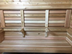 A Cool Corbel (triangle Support) Design To Support Your Sauna Bench