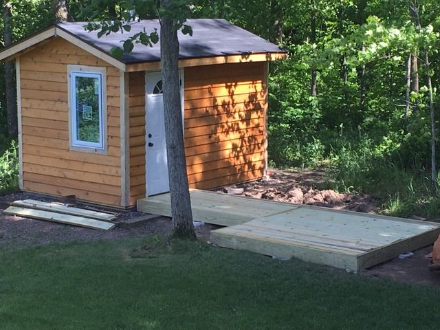 what i learned from building an outdoor sauna with a wood burning stove saunatimes. Black Bedroom Furniture Sets. Home Design Ideas