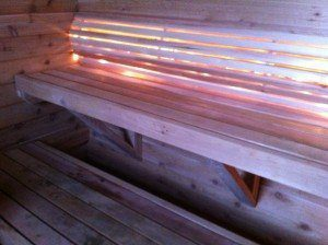 The most awesome sauna backrest you'll ever experience.