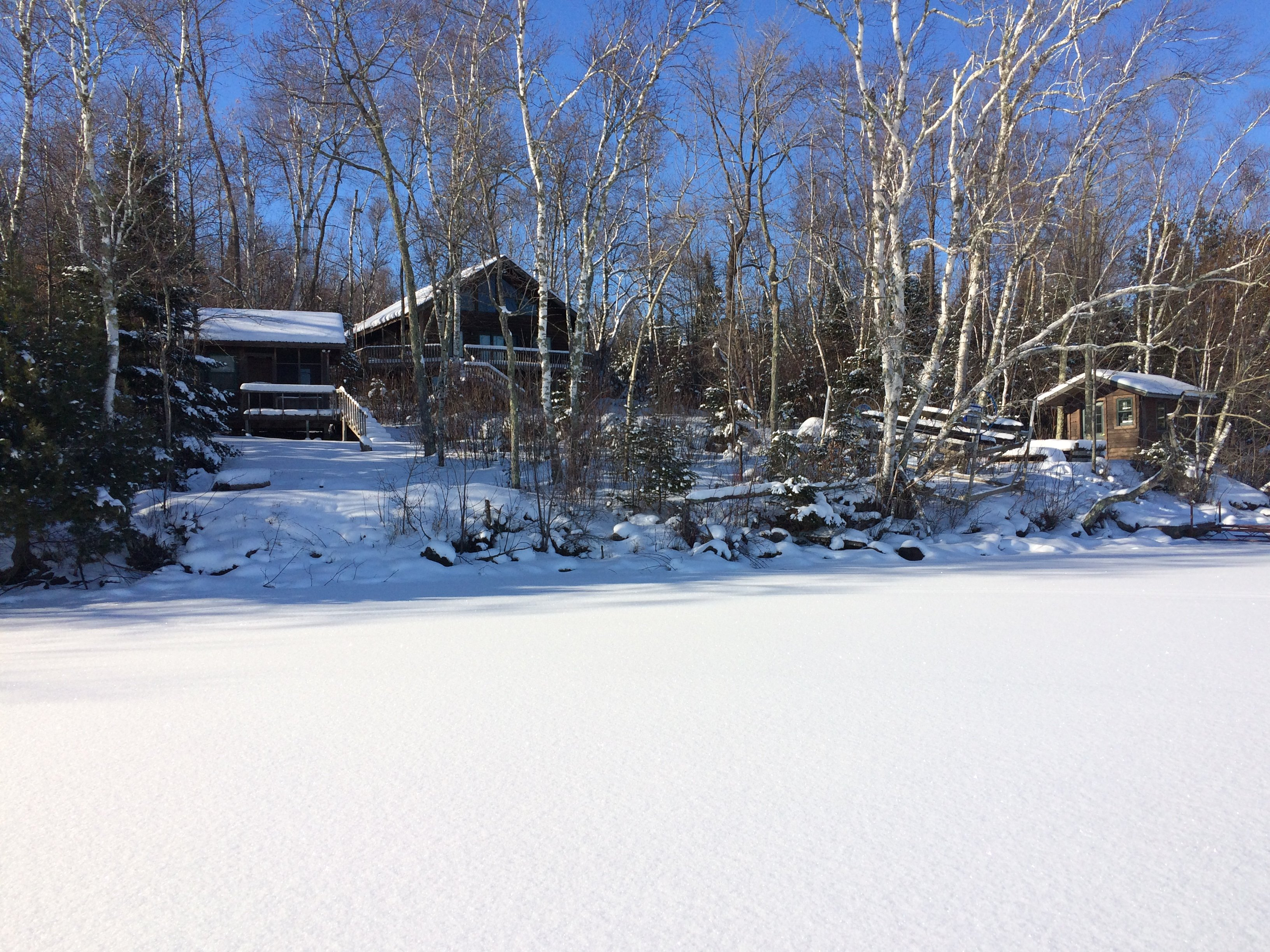 Lake Vermilion Cabin on a Winter afternoon