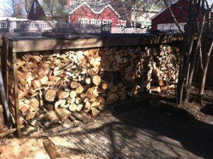 Sauna firewood in unlikely places.