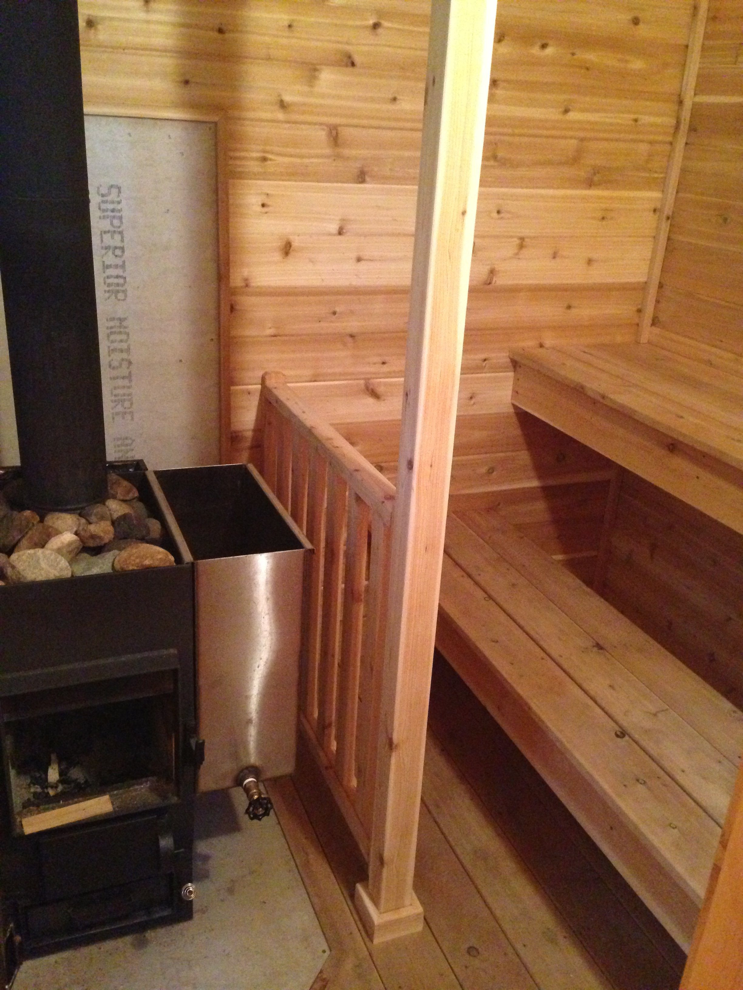 Guard Rail To Protect Your Kids From A Hot Sauna Stove