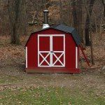 A neglected backyard shed gets made over into a Russian style wet sauna in Upstate New York