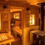 Sauna build in Northwest Wisconsin has changed the whole cabin experience: everyone wants to hang out there