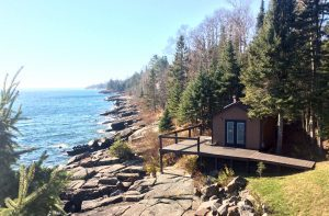 A video tour of a kick ass wood burning sauna along the shores of Lake Superior