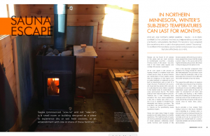 Minnesota Lake Time Magazine article recognizes that sauna can be a noun and a verb