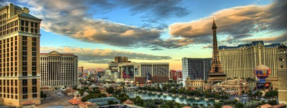 Panoramic HDR photo of Las Vegas, Nevada.