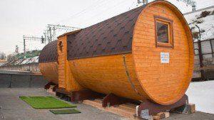 Moscow roof sauna