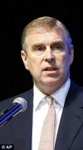 Prince Andrew digs sauna and the secret is out