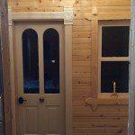 Rich sauna changing room door