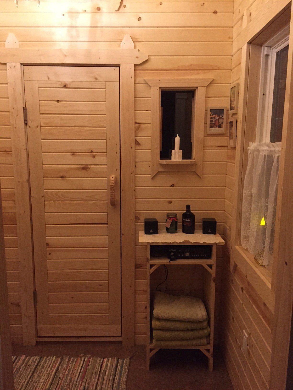 Rich sauna changing room