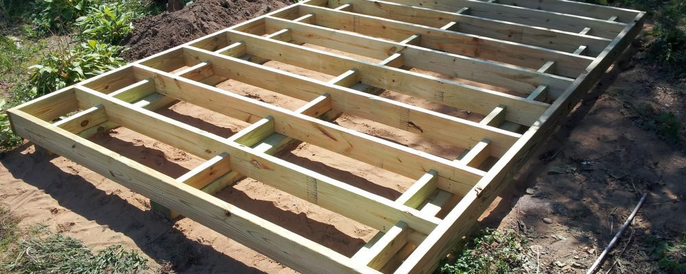 8'x12' framing with 2x6 green