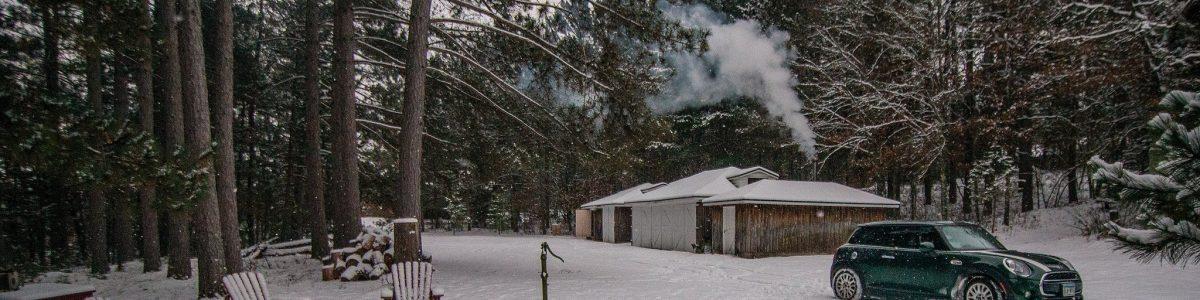 John's NW Wisconsin cabin sauna building (a former garage).