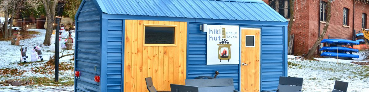 Tiki Hut mobile sauna set up for a private rental event