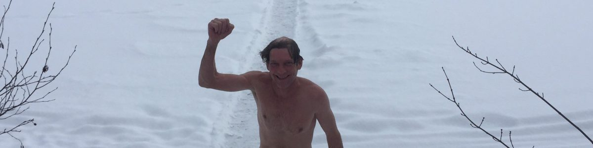 Endorphin rush after cold plunge between sauna rounds