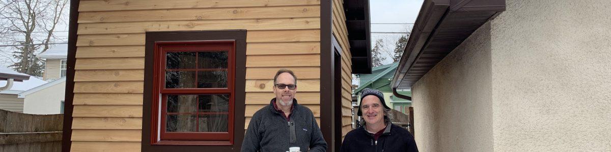 Backyard South Minneapolis Minnesota sauna build