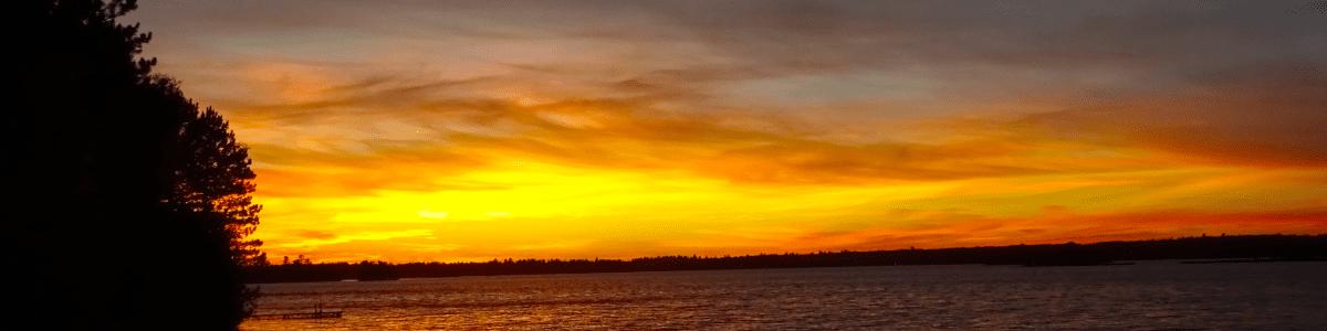 Island Lake, Minnesota sunset