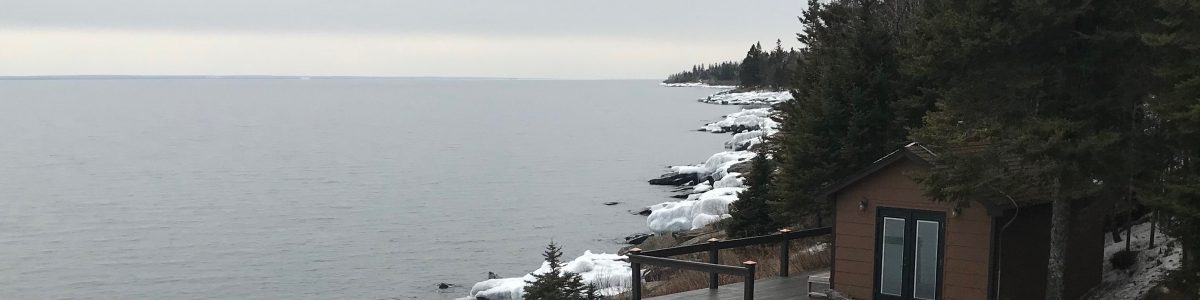 Lake Superior Sauna.  No carving hole in the ice