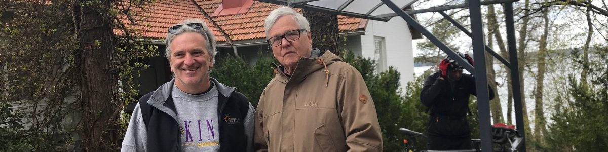 Risto Elomaa, President, International Sauna Association, outside the Finnish Sauna Society in Helsinki