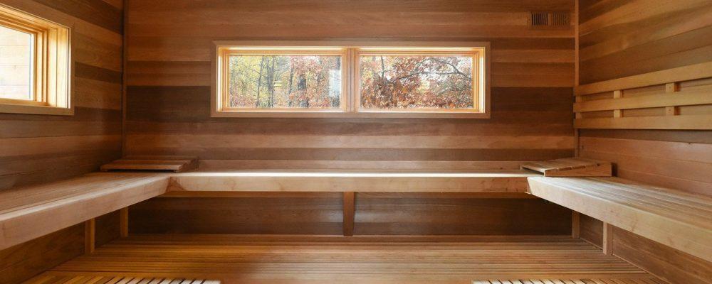 Wisdom Woods sauna hot room