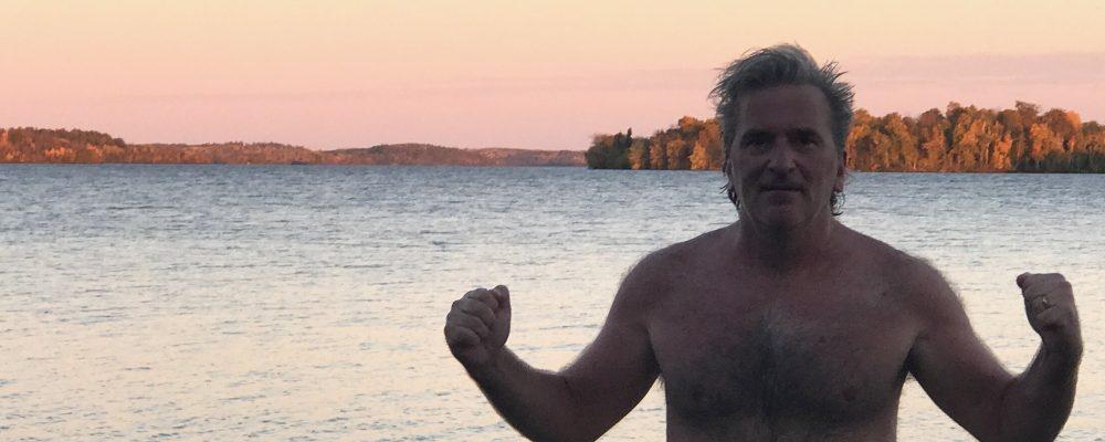 fall sauna cold lake plunge