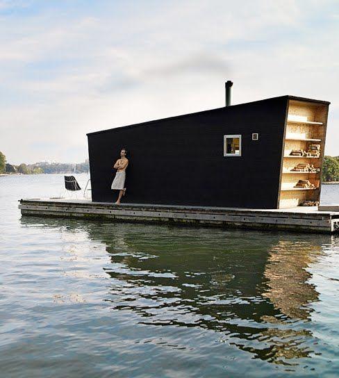 Modern Tiny Floating House | Tiny House Pins