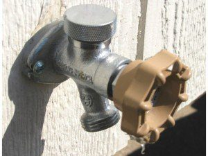 Freeze proof faucets help backyard sauna enthusiasts chill out all winter long