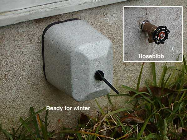 Outdoor faucet protector extends the outdoor shower sauna season ...