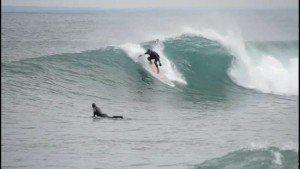 The Spirit of Lake Superior surfing