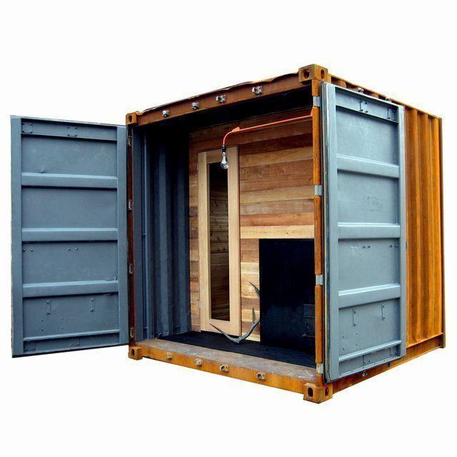 Portable Shipping Container Sauna Visited Throughout The