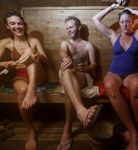 Front page Minneapolis Star Tribune newspaper article on traditional sauna revival