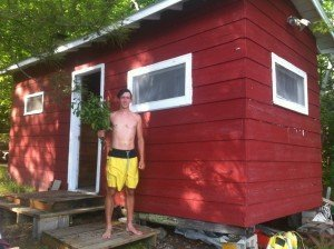 Making a Vihta for an early summer sauna at the cabin
