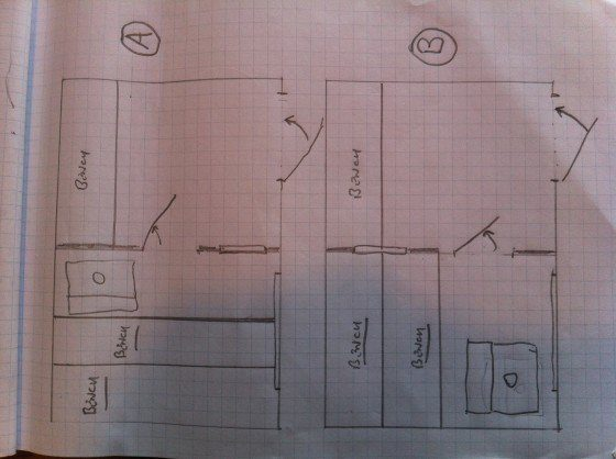 8x12 sauna plans, A and B options