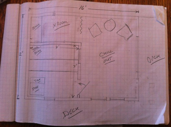 12'x16' sauna plans