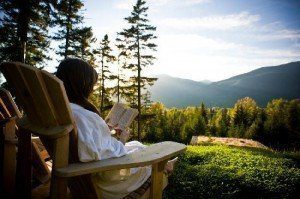 Sauna connects you with the outdoors.