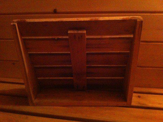 sauna backrest from behind